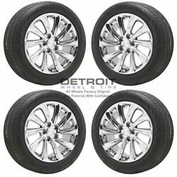 18 Buick Lacrosse Pvd Bright Chrome Wheels Rims And Tires Oem Set 4 2011-201...