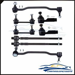 Suspension 8pcs Outside Inside Tie Rod Sway Bar For Nissan Altima Maxima