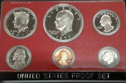 1977 Us Mint Clad Proof Set With Six Gem Coins In Original Mint Packaging