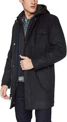 Marc New York By Andrew Marc Mens Rowland Melton Parka Jacket With Removable Qui