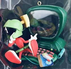 Marvin The Martian W/ Computer Looney Tunes Christmas Ornament Light Cover 1998
