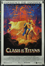 Clash Of The Titans 1981 Orig 40x60 Movie Poster Laurence Olivier Harry Hamlin