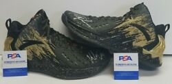 Klay Thompson Signed Golden State Warriors 3x Nba Champ Shoes Sz 13. Psa/dna