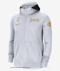 Nike Los Angeles Lakers Showtime Trophy Ring Banner Therma Flex Hoodie Sz M