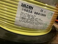 Belden 1505a 0041000 Rg59/20 Coaxial Cable Yellow 1000and039 Spool