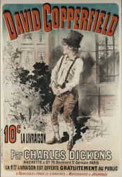 19th Century Lithographic Poster Of And039and039david Copperfieldand039and039