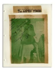 Hunter Thompson Autograph Note Signed On A Leggy Lady