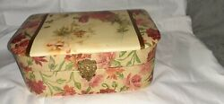 Vintage Floral Celluloid Jewelry Vanity Box