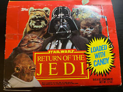 Very Rare Vintage 1983 Topps Star Wars Return Of The Jedi Candy Box Complete