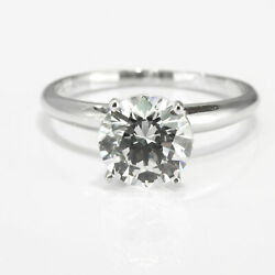 Round Cut Gorgeous Diamond Engagement Ring 14kt White Gold 1.34 Ct F/si2
