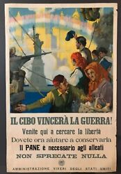 Wwi Ww1 Original War Poster Food Will Win The War Nyc Statue Of Liberty Victory