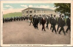 Postcard Just Starting For A Hike Camp Dix Wrightston N J