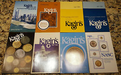 Kaginand039s Coin Auction Catalogs - 8 From 1981-1983