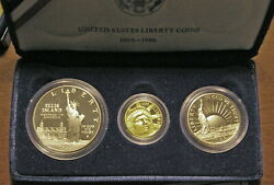 3 Piece 1986 Liberty Coin Set Proof Coins