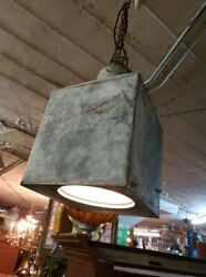 Antique Flour Sifter Hanging Pendent Lamp – Repurposed
