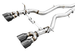 Awe For Bmw F8x M3 /m4 Track Edition Exhaust Chrome Silver Tips 102mm 3015-42082
