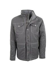 Sts Ranchwear Western Jacket Mens Ryder Jersey Zip Gray Sts8042