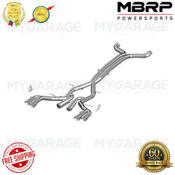 Mbrp For 2016-2018 Chevy Camaro, V8 6.2l 6 Speed Exhaust System Kit Fits