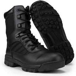 Ryno Gear Menand039s Black Tactical Combat Boots With Coolmax Lining