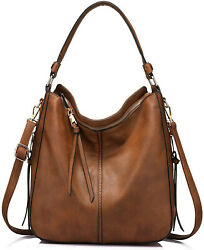Realer Hobo Bags for Women Faux Leather Purses and Handbags Large Hobo  $65.99