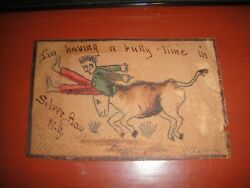 1905 Postcard Leather - Iand039m Having A Bully Time In Silver Bay Ny