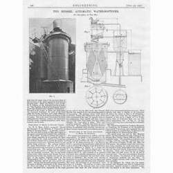 1907 Antique Engineering Print - The Biessel Automatic Water Softener