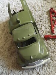 Hubley No 475 Bell Telephone Truck Kiddie Toy With Trailer And Pulley