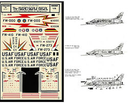 Vintage Decals 1/72 Micro Scale Usaf F-100 Super Sabres Partial Used