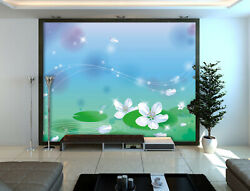 3d White Flower Zhua1723 Wallpaper Wall Murals Removable Self-adhesive Zoe