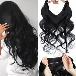 Secret Invisible Wire Halos Flip On 100 Real Human Hair Extensions 100g