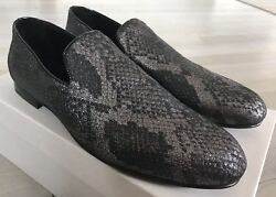 800 Jimmy Choo Snake Print Steel Sloane Slip On Shoes Size Us 13 Made In Italy