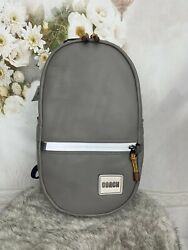 Coach Unisex Pacer Smooth Leather Heather Grey Backpack With Patch 78829 395