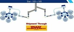 Star 105+105 Operating Double Dome Operation Theater Light Flow Compatibility Ot