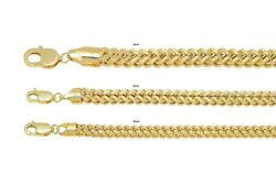 Brand New 10k Yellow Gold Franco Chain 4.0mm-6.0mm Necklace 16-34