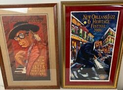 New Orleans Jazz Fest Posters 1999 And 2006 Fats Domino And Professor Longhairandnbsp