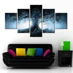 5 Panel Framed Enchanted Mystical Tree Modern Picture Wall Art Hd Print Decor
