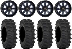 System 3 St-4 14 Wheels Blue 31 Xm310 Tires Can-am Defender