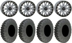 System 3 Sb-4 Grey 4+3 15 Wheels 30 Race Tires Can-am Defender