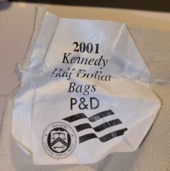 2 Rolls 2001 P And D Jfk Half Dollar 50c Us Coins 40 Unc From Us Mint Bag