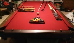 Deluxe Golden West New Pool Table 8 Ft Slate - No Wear And Tear