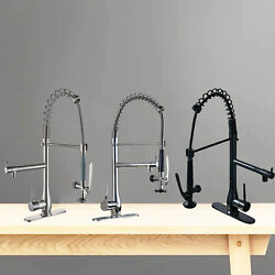 Spring Kitchen Sink Faucet Pull Down Sprayer 360° Single Handle Mixer Tap Chrome