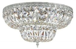 Crystorama Lighting 718-ch-cl-s Richmond - Four Light Flush Mount In Natural