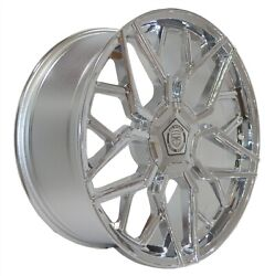 4 G46 20 Inch Chrome Rims Et20 Fits Jeep Cherokee Fwd 2014 - 2020