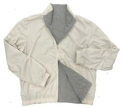 Loro Piana Beige Reversible Cashmere Bomber Windmate Size Xxxl Made In Italy