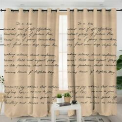 Quote Love Letter Life Heart Window Living Room Bedroom Curtains Drapes