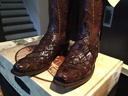 Lucchese Classic Exotic Menand039s Boots Size 9d New