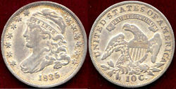 1835 10c-nice Toning- Capped Bust Dime++