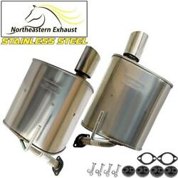 Pair Of Stainless Steel Exhaust Mufflers With Hangers + Bolts Fit 08-14 Tribeca