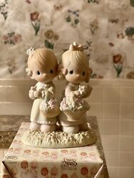 """Precious Moments """"to My Forever Friend"""" Two Girls Sisters Twins 100072"""