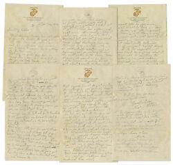 Rene Gagnon 1944 Wwii Autograph Letter Twice Signed